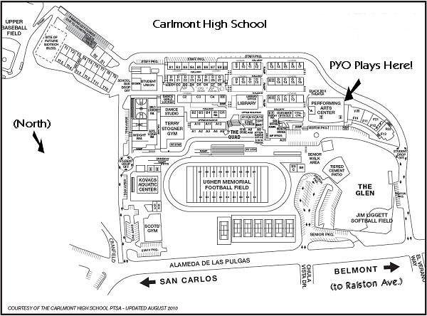 San Mateo High School Campus Map.Carlmont High School Map